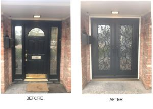 custom iron front door houston tx
