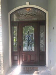 custom fiberglass front door houston tx