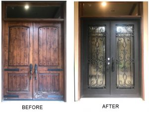 Wrought Iron Entry Doors The Woodlands TX