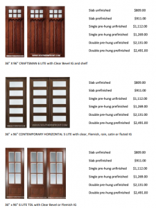 Great Summer Deals on Quality Doors