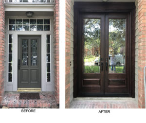 Houston wood entry doors